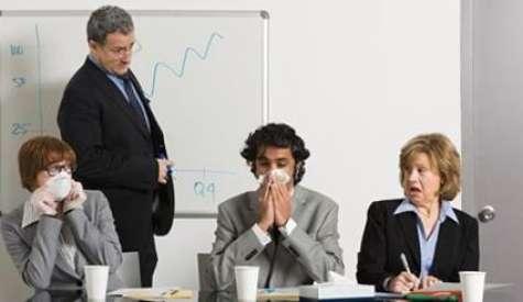 Los virus en la oficina se propagan de manera rápida. Foto:fbexternal
