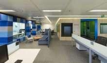 Los colores a la hora de diseñar los espacios en la oficina son muy importantes porque estos influyen en la productividad de los empleados. Foto:lightecture.com